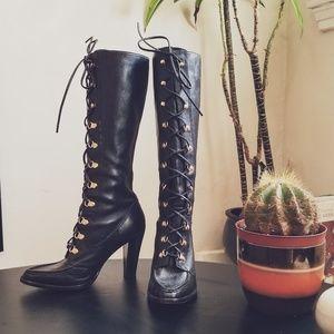 🕸🦇 UEC Michael Kors Black Leather boots🦇🕸